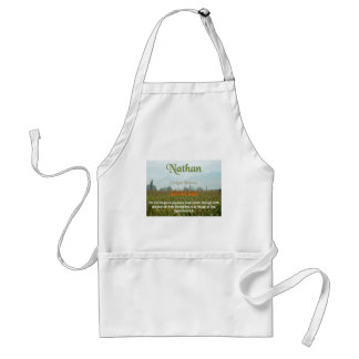 Nathan Name meaning Adult Apron