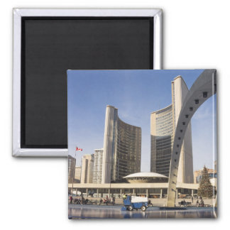 Nathan Phillips Square, Christmas, Toronto 2 Inch Square Magnet