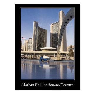 Nathan Phillips Square, Christmas, Toronto border Postcard