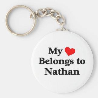 nathan tiene mi corazón llaveros personalizados