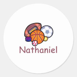 Nathaniel Classic Round Sticker