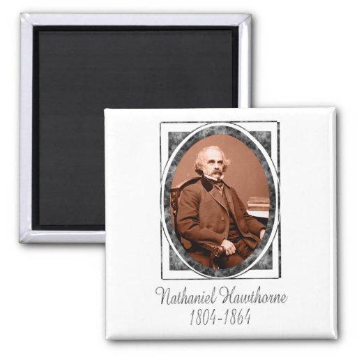 Nathaniel Hawthorne 2 Inch Square Magnet