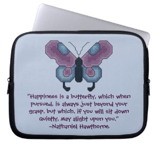 Nathaniel Hawthorne Butterfly Happiness Laptop Cas Computer Sleeve