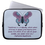 Nathaniel Hawthorne Butterfly Happiness Laptop Cas Laptop Sleeves