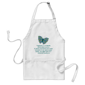 Nathaniel Hawthorne Butterfly Happiness Quote Adult Apron