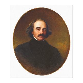 Nathaniel Hawthorne by Emanuel Gottlieb Leutze Canvas Print