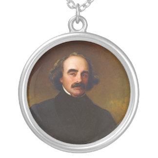 Nathaniel Hawthorne by Emanuel Gottlieb Leutze Silver Plated Necklace