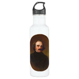 Nathaniel Hawthorne by Emanuel Gottlieb Leutze Stainless Steel Water Bottle