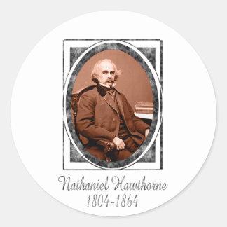 Nathaniel Hawthorne Classic Round Sticker