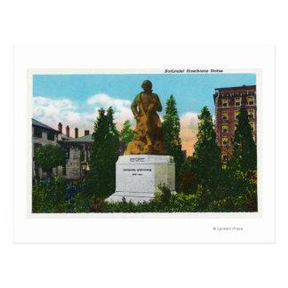 Nathaniel Hawthorne Statue View Postcard