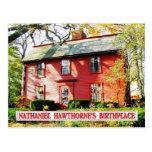 Nathaniel Hawthorne's Birthplace, Salem, MA Postcard