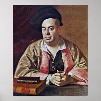 Nathaniel Hurd-portrait by John Singleton Copley Poster