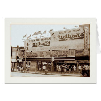Nathan's Famous Hot Dogs Blank Greeting Card