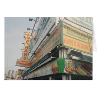 Nathan's Famous Hot Dogs Blank Note Card