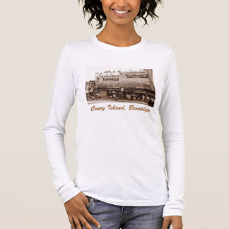 Nathan's Famous Hot Dogs Ladies' Long-Slve T-shirt