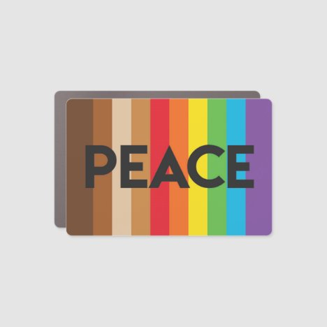 Natick rainbow peace flag project car magnet