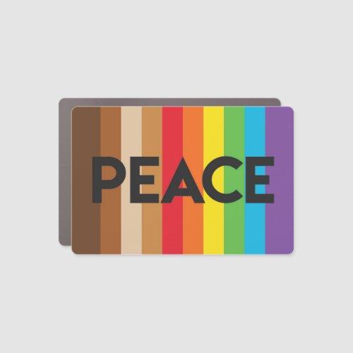 Natick rainbow peace flag project car magnet