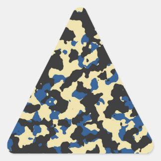 Natillas - impresión azul clásica PANTONE del Pegatina Triangular