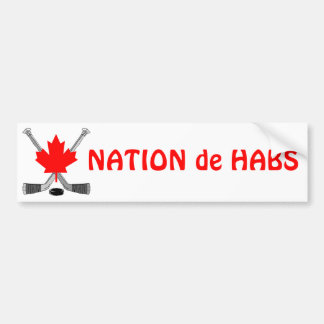 NATION de HABS Pegatina Para Auto