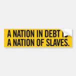 Nation of Debt Bumper Sticker