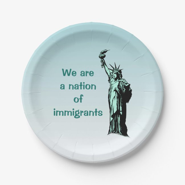 Nation of Immigrants Paper Plates
