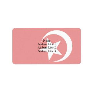 Nation Of Islam, religious flag Address Label