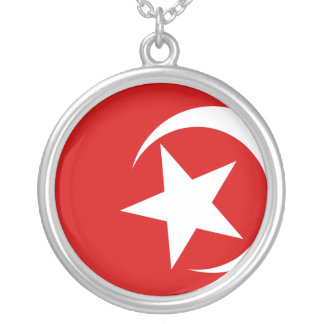Nation Of Islam, religious flag Round Pendant Necklace