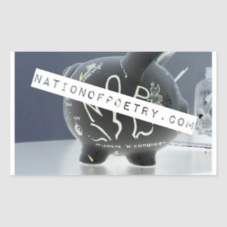 Nation of Poetry Pig of Truth Stickers