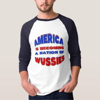Nation Of  Wussies 3/4 Sleeve Raglan T-Shirt
