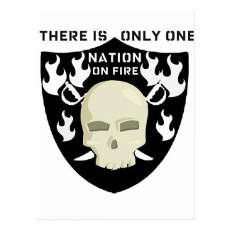 NATION ON FIRE - THERE IS ONLY ONE POSTCARD