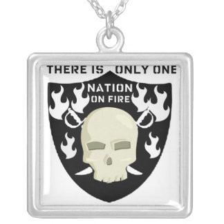 NATION ON FIRE - THERE IS ONLY ONE SILVER PLATED NECKLACE