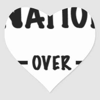 Nation over Party gift collection Heart Sticker