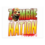Nation Zombie Head Postcard