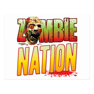 Nation Zombie Head Post Card