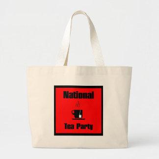 Nationa Tea Party Mug of Tea Large Tote Bag
