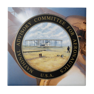 National Advisory Committee for Aeronautics Logo Ceramic Tile