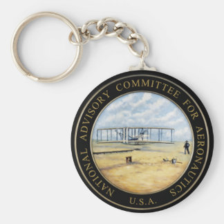 National Advisory Committee for Aeronautics Logo Keychain