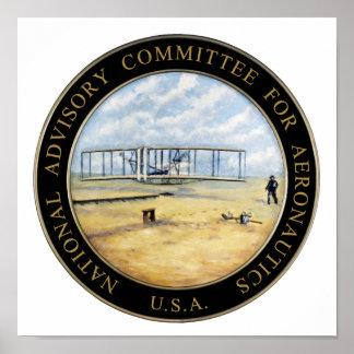 National Advisory Committee for Aeronautics Logo Poster