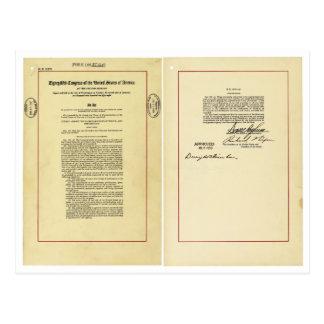 National Aeronautics and Space Act of 1958 Postcard