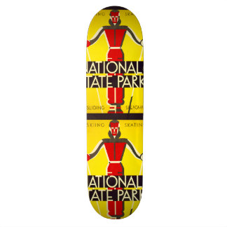National and state parks, skiing - Dorothy Waugh Skateboard Deck