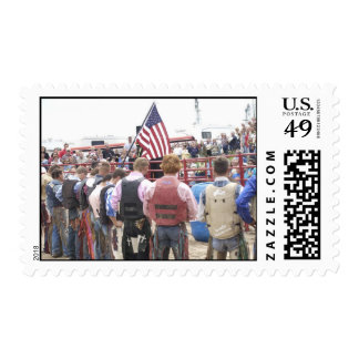 National Anthem & Bull Riders Stamp