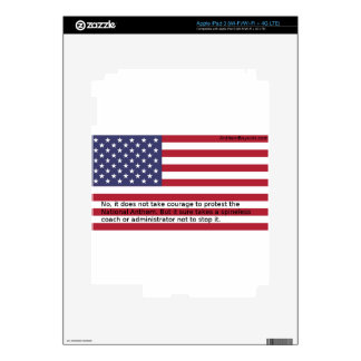 National Anthem Protests Skin For iPad 3