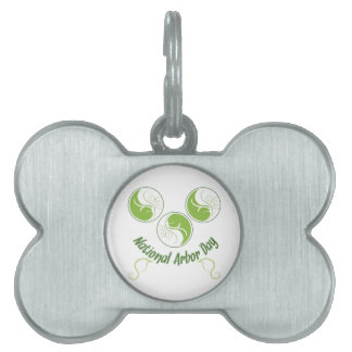 National Arbor Day Pet Tag