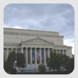 National Archives Square Sticker