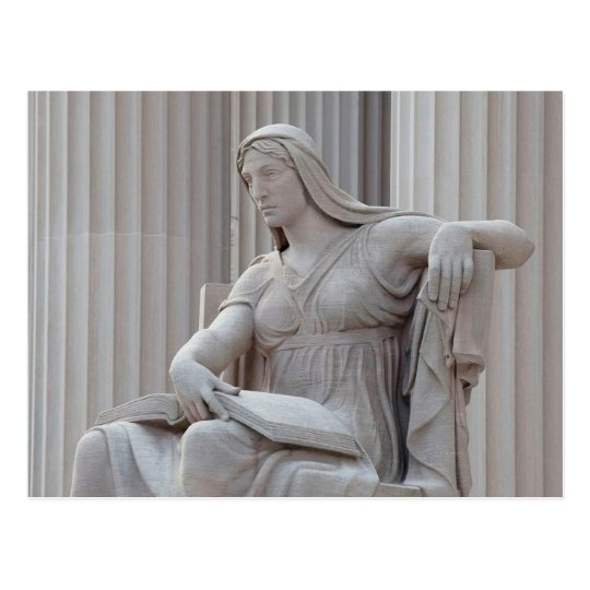 National Archives Statue 'The Future,' Washington, Postcard