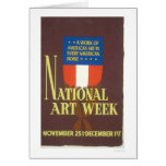 National Art Week 1941 WPA Card