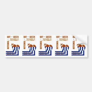 National Art Week  - WPA Poster - Car Bumper Sticker