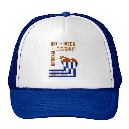 National Art Week  - WPA Poster - Hats