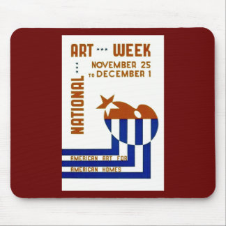 National Art Week  - WPA Poster - Mouse Pad