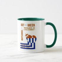 National Art Week  - WPA Poster - Mug